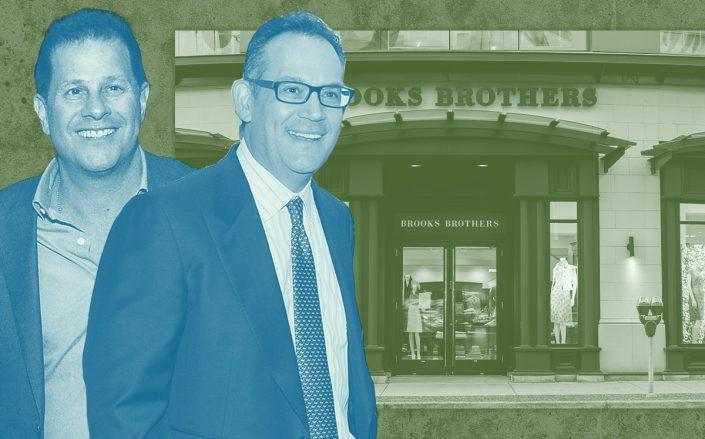 Authentic Brands Group CEO Jamie Salter, David Simon and Brooks Brothers (Getty)