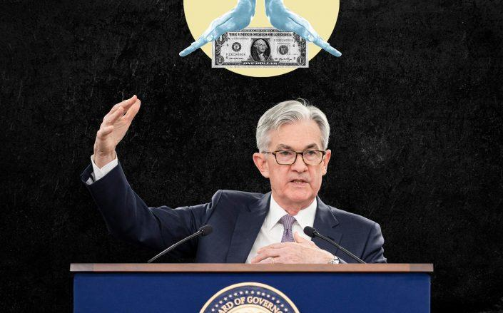 Federal Reserve Board chairman Jerome Powell (Photos by Samuel Corum/Getty Images; iStock)