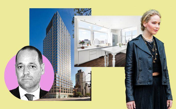 Marwan Kheireddine (inset), Jennifer Lawrence and 400 East 67th Street (Getty, Compass, BDL Accelerate)