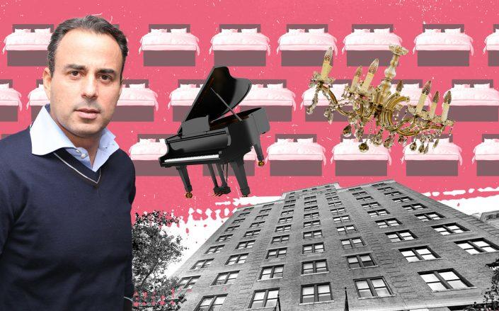 Ashkenazy Acquisition CEO Ben Ashkenazy and the Surrey Hotel at 20 East 76th Street (Google Maps; iStock; Pixabay)