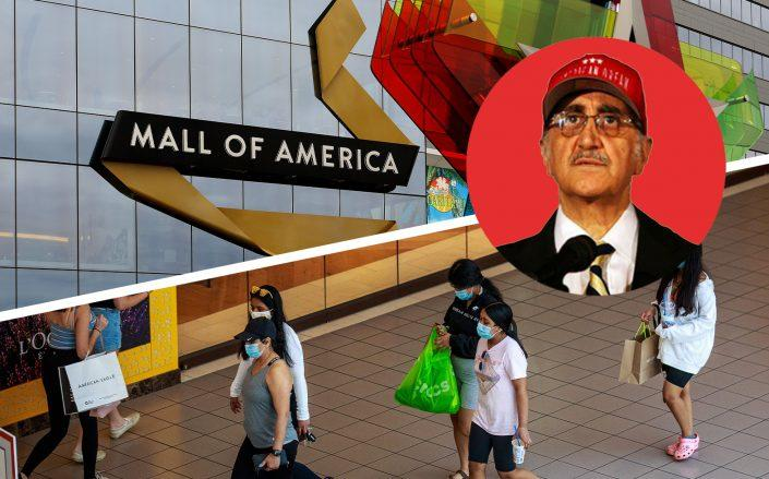 Mall of America and Triple Five Group chairman Nader Ghermezian (Mall of America by KEREM YUCEL/AFP via Getty Images and Raymond Boyd/Getty Images)
