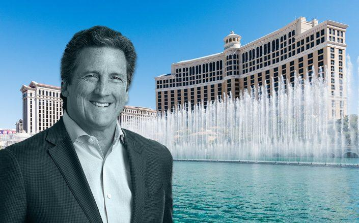 MGM CEO William Hornbuckle and the Bellagio resort