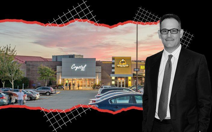 Crystal Mall in Waterford, Connecticut and Simon Property Group's David Simon (Simon, Getty)