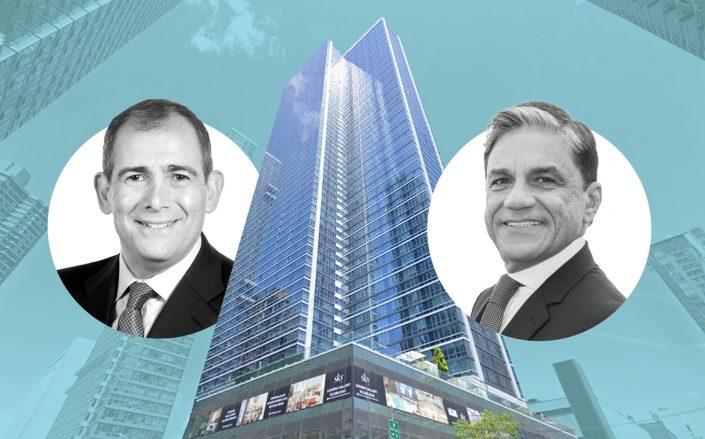 post-pandemic era Backal Hospitality Group CEO Arthur Backal, 627 West 42nd Street and Moinian Group CEO Joseph Moinian (Images via Backal, Google Maps, Moinian)