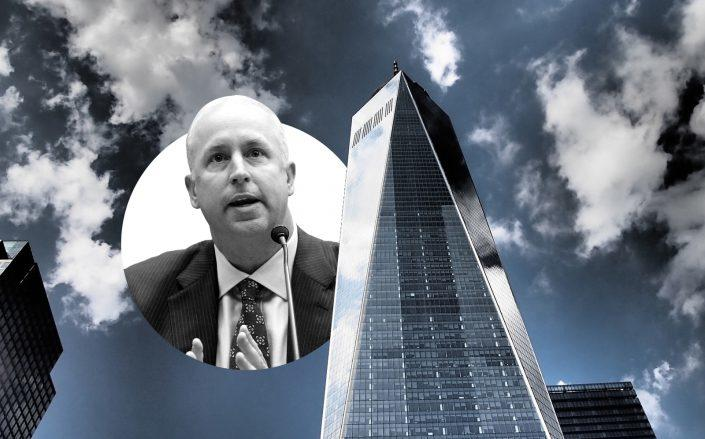 Moody's CEO Raymond McDaniel and 1 World Trade Center (McDaniel by Alex Wong/Getty Images; Pixabay)