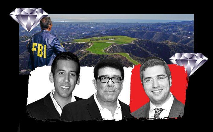 From left: Victor Franco Noval, Victorino Noval and Jona Rechnitz with the Mountain of Beverly Hills (Getty; A Bird's Eye)