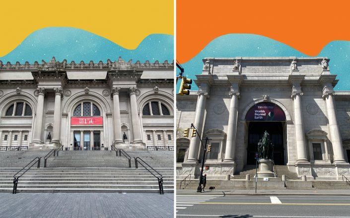 The Metropolitan Museum of Art and The American Museum of Natural History (Photos by Rob Kim/Getty Images)