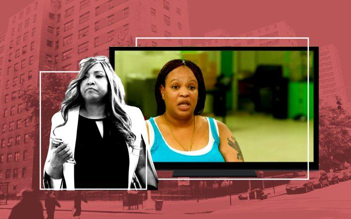 HUD's Lynne Patton and of Frederick Douglass Houses resident Claudia Perez (Getty; RNC)