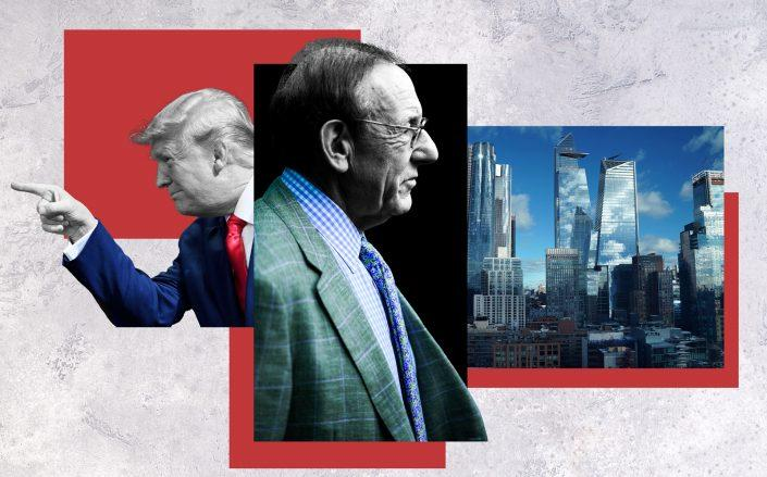 Related chairman Stephen Ross with President Donald Trump and Hudson Yards (Photos via Getty Images)