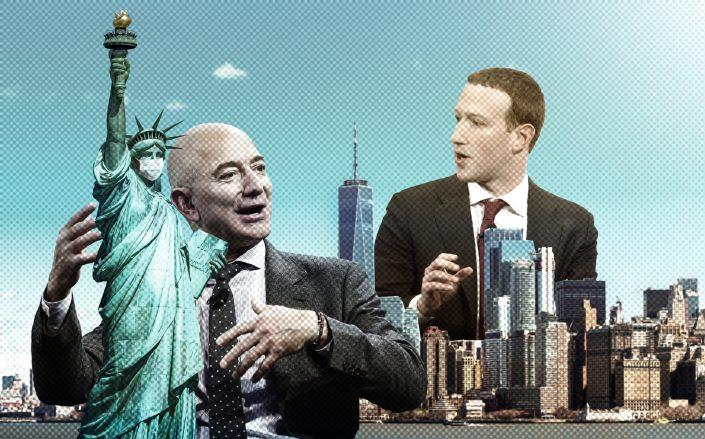 Amazon CEO Jeff Bezos and Facebook CEO Mark Zuckerberg (Getty, iStock)