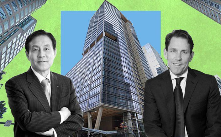 The Qualtrics Tower at 1201 2nd Avenue in Seattle with Hana Financial CEO Kim Jung-tai and Skanska USA CEO Richard Kennedy (Google Maps)