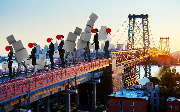 Photo illustration of the Williamsburg Bridge (Getty, iStock)