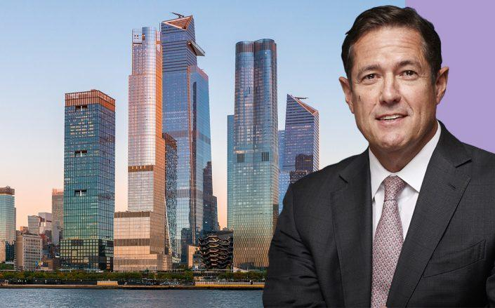 Barclays CEO Jes Staley and Hudson Yards (Getty)