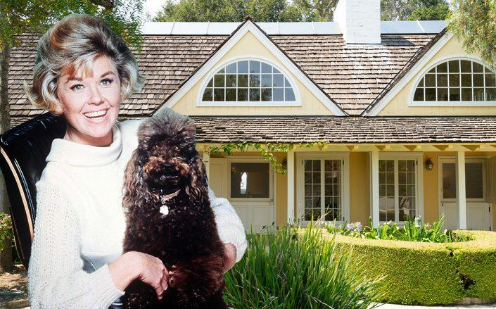 Doris Day and her Monterey home (Getty, Wayne Capili/Sotheby's)
