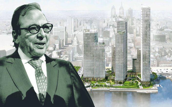 Douglas Durst and a rendering of the project (Getty, DRWC)
