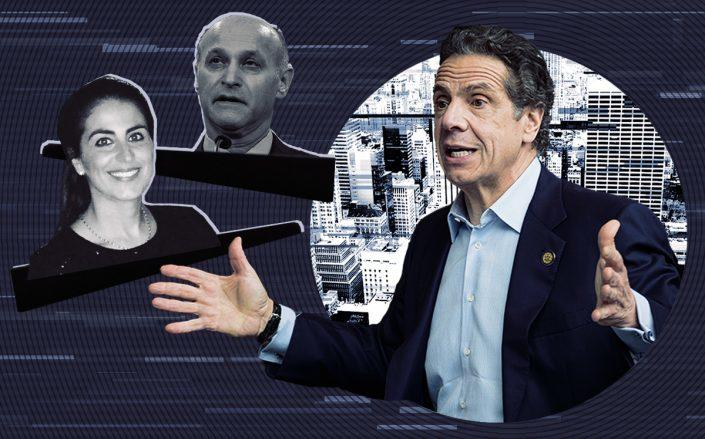 Gov. Andrew Cuomo with Judge Lawrence Marks and Judge Daniele Chinea (Getty, Linkedin, iStock)
