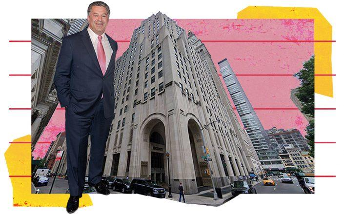 SL Green CEO Marc Holliday and 11 Madison Avenue (Getty, Google Maps)
