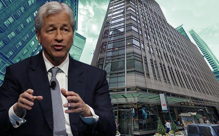 Jamie Dimon and 383 Madison Avenue (Getty, Google Maps)