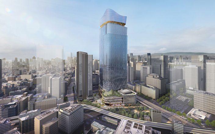 Rendering of the Tokyo Tokiwabashi project (Courtesy of Mitsubishi)