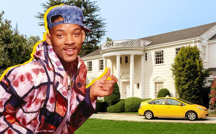 WIll Smith as the Fresh Prince and the Los Angeles mansion (Getty, Airbnb)