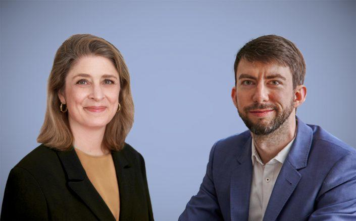 Alicia Glen and Common CEO Brad Hargreaves (Glen via MSquared; Hargreaves via Common)