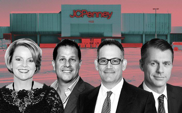 From left: J.C. Penney CEO Jill Soltau, Authentic Brands Group CEO Jamie Salter, Simon Property Group CEO David Simon, and Brookfield Property Partners CEO Brian Kingston (Getty)