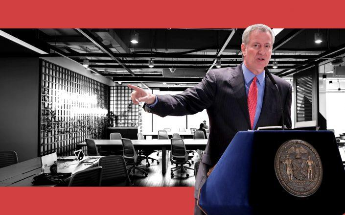 Following pressure from business leaders, Mayor Bill de Blasio calls for the return to the office (Getty)