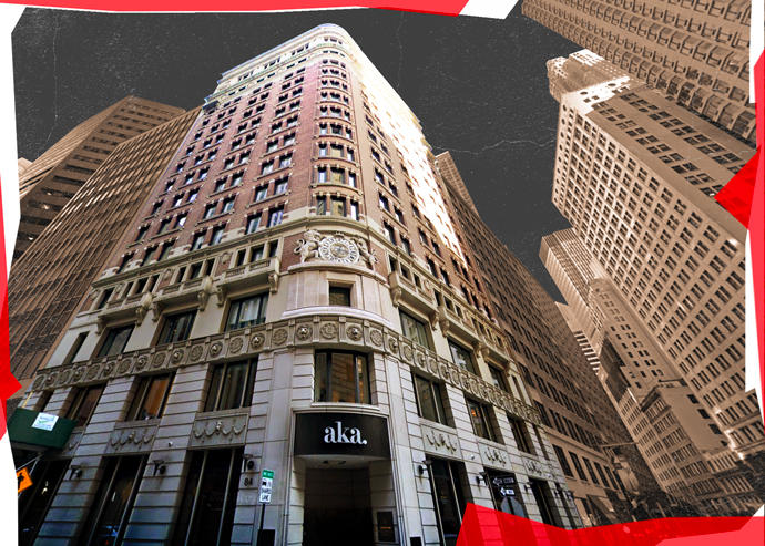 therealdeal.com - Kevin Rebong - Prodigy Network's AKA Wall Street Hotel Closes Permanently