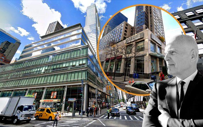 731 Lexington Avenue and 410 East 61st Street (inset) with Vornado's Steve Roth (Googel Maps; VNO)