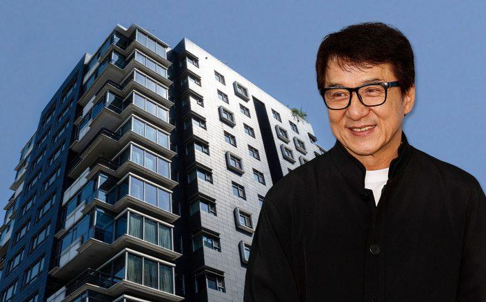 Jackie Chan and the building (Credit: Andrew Chin/Getty Images, and NICOLAS ASFOURI/AFP via Getty Images)