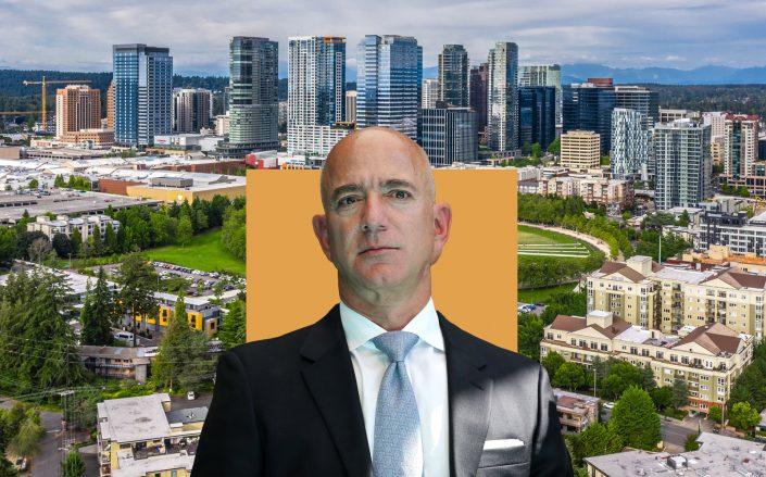 Jeff Bezos and Bellevue Washington (Getty; Unsplash)