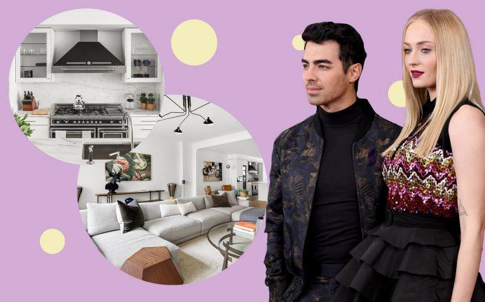 Joe Jonas and Sophie Turner with 199 Mott Street (Getty; Modlin Group)