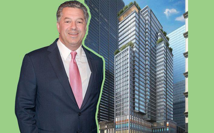 SL Green CEO Marc Holliday and 185 Broadway (Photos via SL Green)