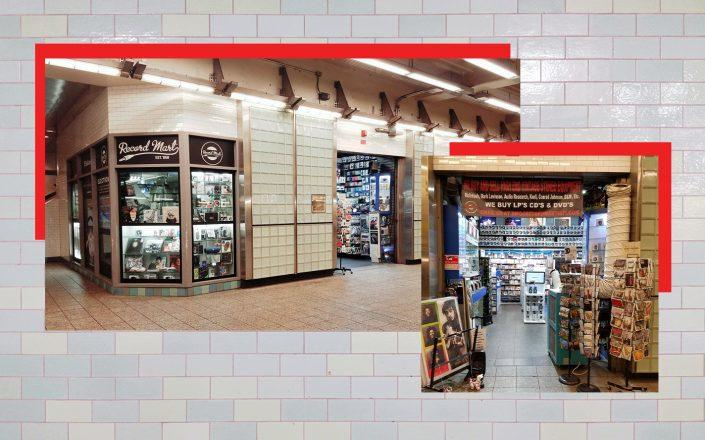 Record Mart in the Times Square-42nd Street station (Photos via Facebook)