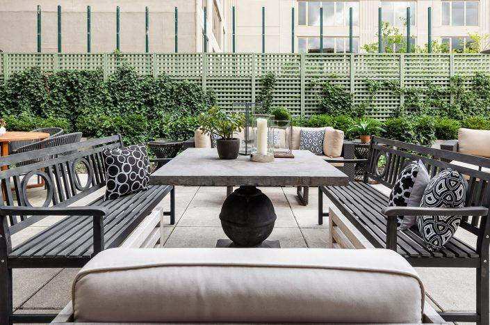 The private outdoor terrace at 199 Mott Street (Modlin Group)