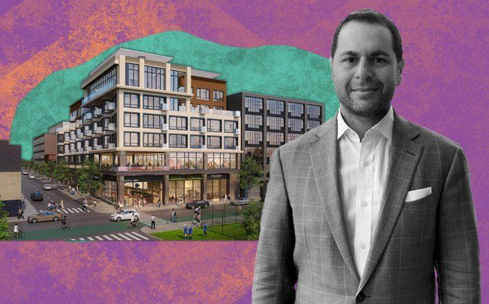 Lantern Real Estate co-founder Tal Bar-Or and a rendering of the project