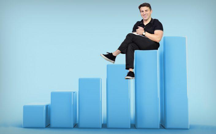 Photo illustration of Brian Chesky (Getty, iStock)