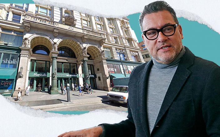 Bed Bath & Beyond CEO Mark Tritton and 620 6th Avenue (Getty, Google Maps)