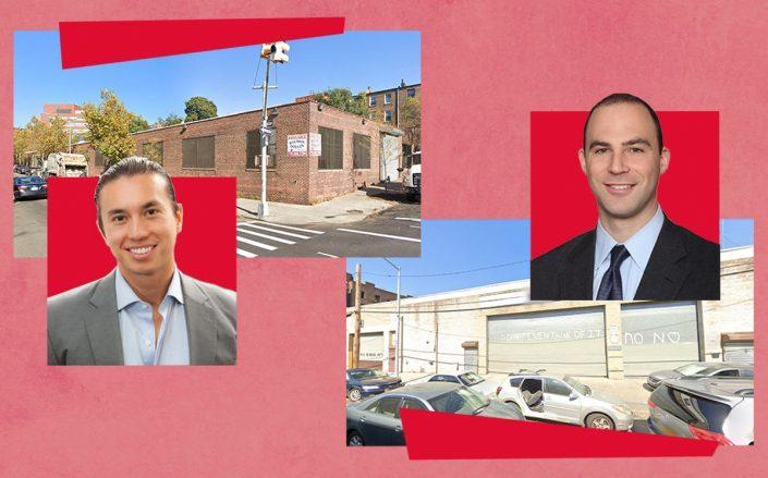 From left: 580 Gerard Avenue and buyer Joshua Schuster of Silverback Development, and 437-441 164th Street with buyer Jason Friedland of Westrock Development (Google Maps)