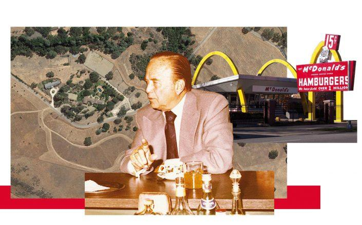 Ray Kroc and his Santa Ynez Valley ranch (Wikimedia, Google Maps)