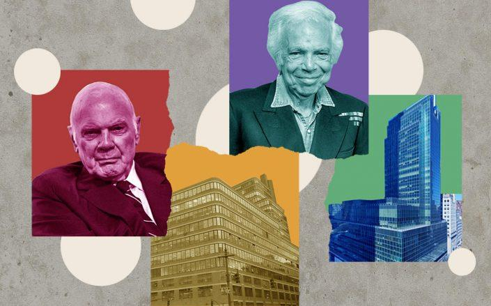 Clockwise from left: Vornado CEO Steven Roth, Ralph Lauren, 650 Madison Avenue and the Starrett-Lehigh building (Getty, VNO, Wikimedia)