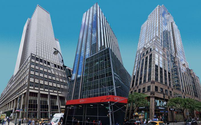 From left: 245 Park Avenue, 420 Fifth Avenue and 1271 Sixth Avenue (Google Maps)