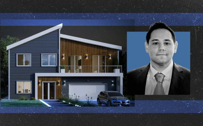 Welcome co-founder Alec Hartman and rendering of a model home (Welcome)