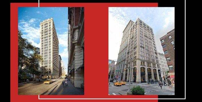212 Fifth Avenue and 251 Park Avenue South, part of the Ring portfolio (Sotheby's, Google Maps)