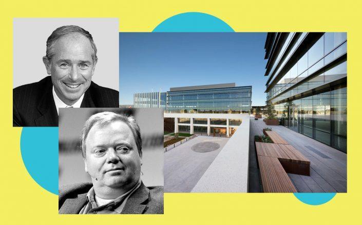 Blackstone's Stephen Schwarzman, Roku CEO Anthony Wood and Coleman Highline in San Jose (Blackstone; Wikipedia Commons; Coleman Highline)