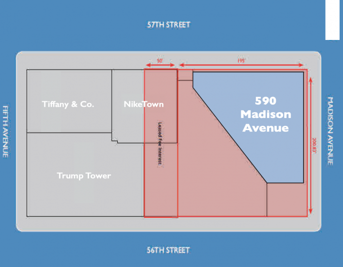 Diagram illustrating STRS Ohio's ground lease with the Trump Org. Source: Loan prospectus via Trepp