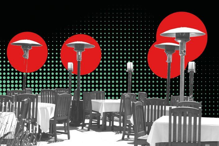 New York restaurateurs are having trouble finding heat lamps to make outdoor dining sustainable in colder months. (iStock)