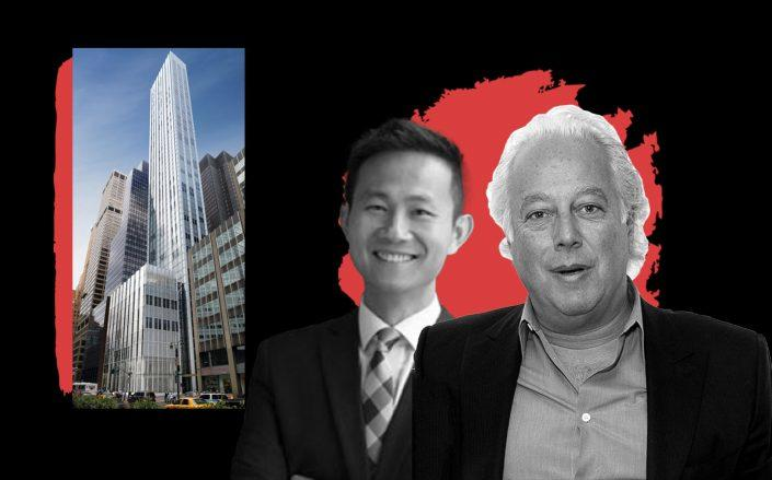 100 East 53rd Street,  Vanke US managing director Kai-yan Lee, and RFR's Aby Rosen (Photos via Structure Tone and Getty)