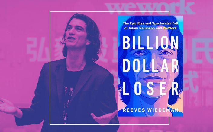 "Adam Neumann and ""Billion Dollar Loser"" (Getty; Amazon)"