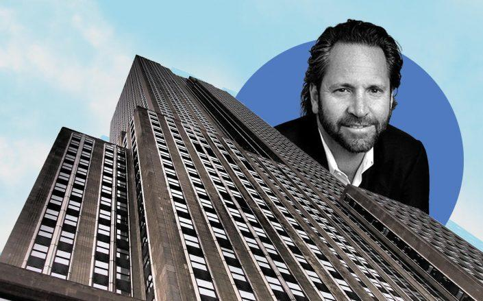 Centric Brands CEO Jason Rabin and the Empire State Building at 350 Fifth Avenue (Centric; Pixabay)